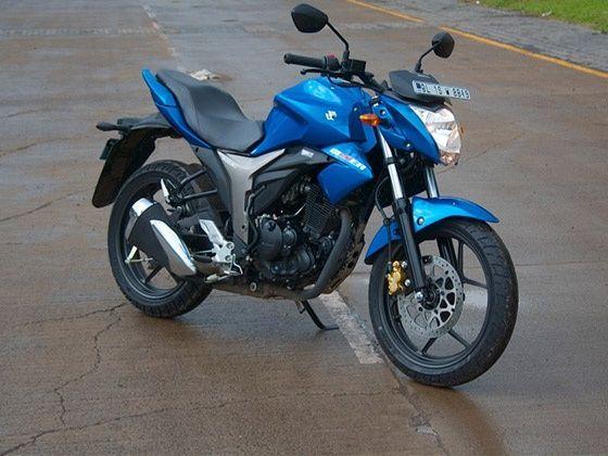 Suzuki Gixxer 155 blue bike design