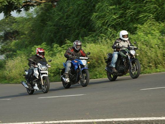 Suzuki Gixxer vs Yamaha FZ-S FI vs TVS Apache RTR 180: Comparison