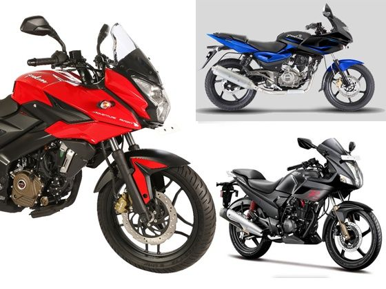 Bajaj Pulsar AS200, Pulsar 220F and Hero Karizma R