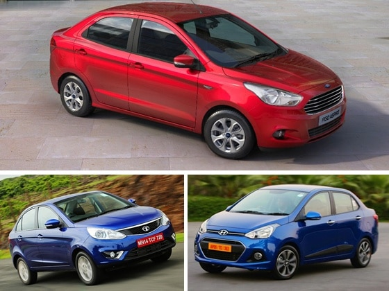 Ford Figo Aspire Vs Tata Zest Hyundai Xcent Spec Comparison