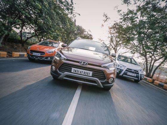 Hyundai i20 Active vs Toyota Etios Cross vs Fiat Avventura