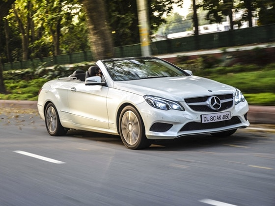 Mercedes-Benz E-Class Cabriolet in action