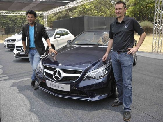 Vikas Khanna and Boris Fitz, VP Sales and Network Development Mercedes-Benz India at Luxdedrive Mumbai