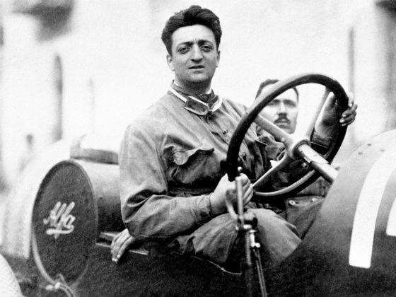 Enzo Ferrari in his early racing days