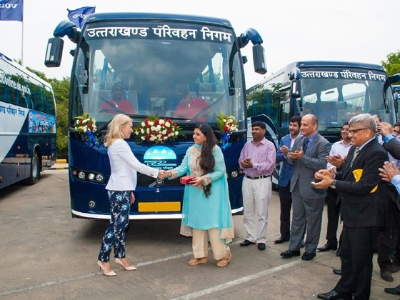 Volvo delivers 9400 intercity coaches to Uttarakhand - ZigWheels