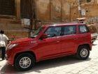 Mahindra TUV300 compact SUV spied undisguised