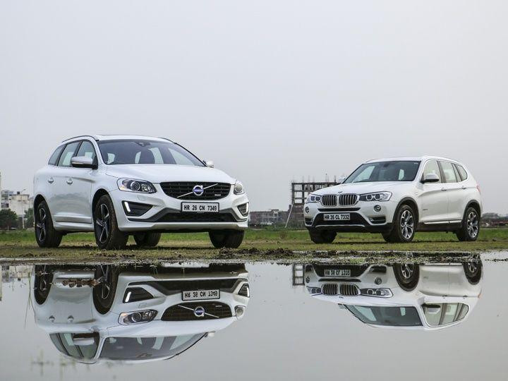 Volvo XC60 vs BMW X3 front static