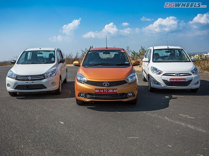 Tata Zica vs Maruti Celerio vs Hyundai i10 comparison