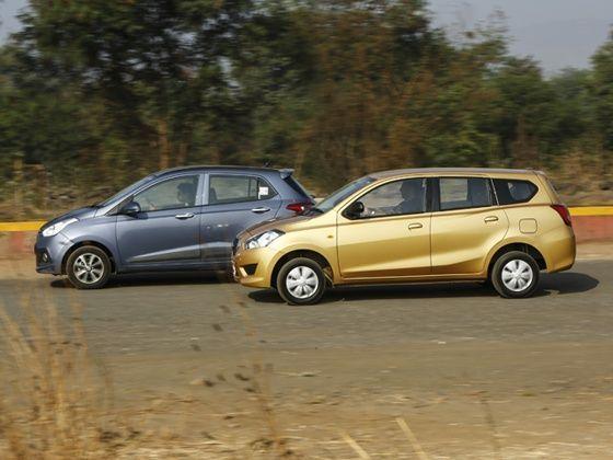 Datsun Go Plus vs Hyundai Grand i10 Petrol Comparison ...