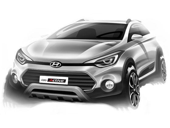 Hyundai i20 Active rendering front