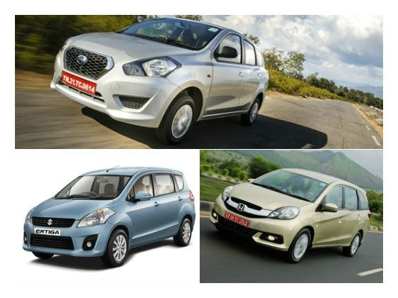 Datsun Go+ vs Maruti Ertiga vs Honda Mobilio Spec ...