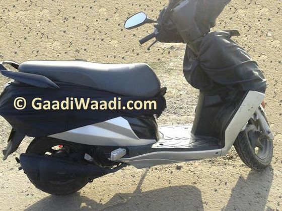 2015 Hero Dash scooter was spied in India
