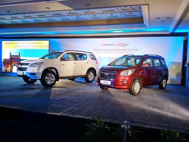 Chevrolet India unveils Trailblazer SUV and Spin MPV