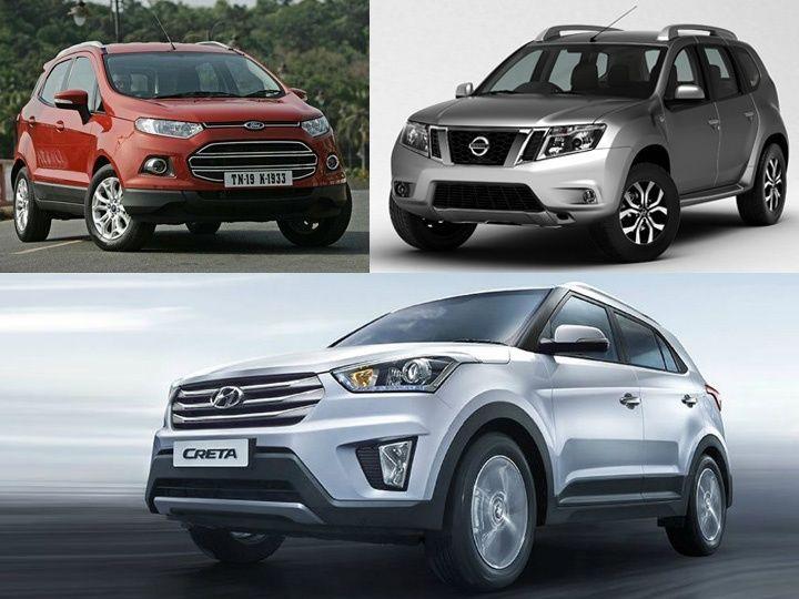 Hyundai Creta vs Nissan Terrano vs Ford EcoSport