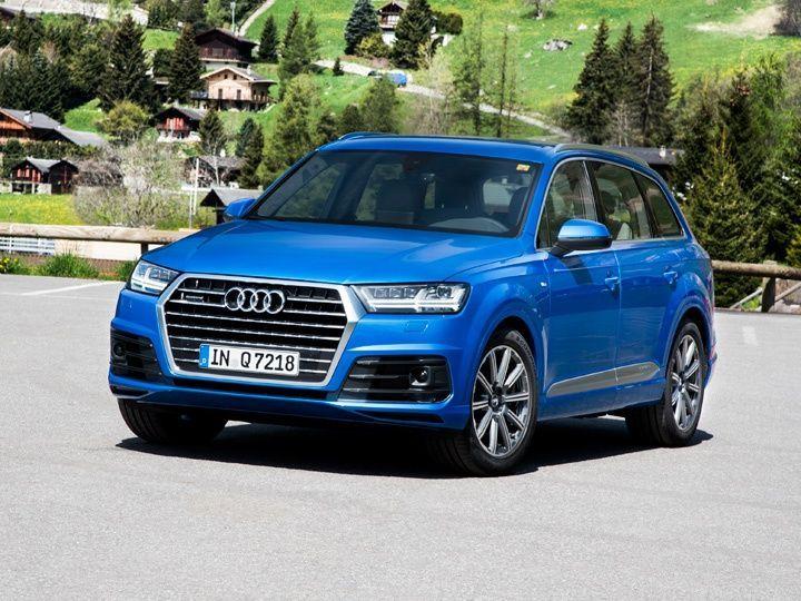 New 2016 Audi Q7 driven in Sion Switzerland
