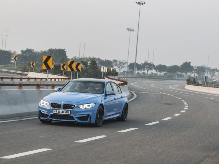 2015 BMW M3 front action