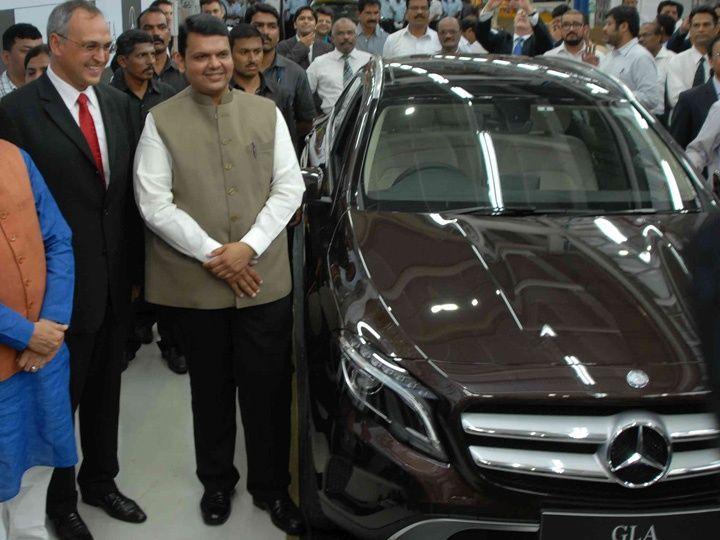 CM Devendra Fadnavis at the Mercedes-Benz Chakan Plant