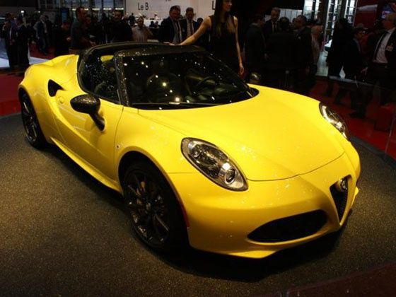 Geneva 2015 alfa romeo 4c spider revealed zigwheels for Garage alfa romeo paris