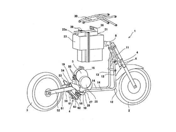 Kawasaki Applies For Electric Bike Patent