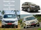 Renault Lodgy vs Honda Mobilio vs Toyota Innova: Spec Comparison Review