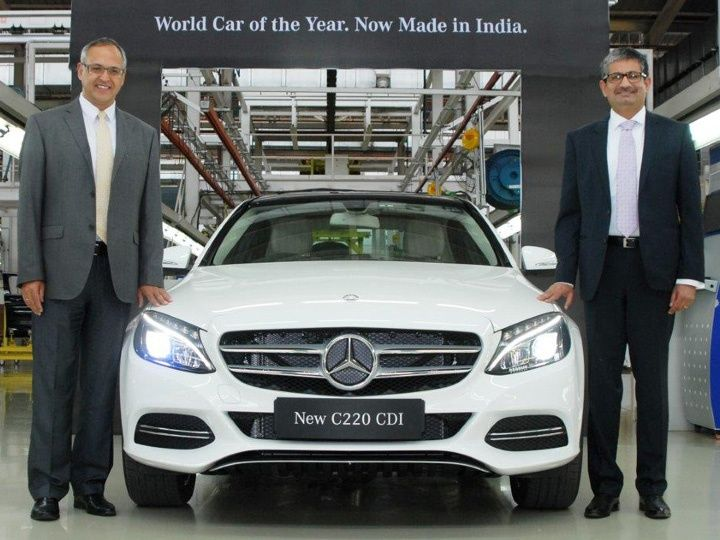 Marvelous Made In India Mercedes Benz C 220 CDI Rolled Out