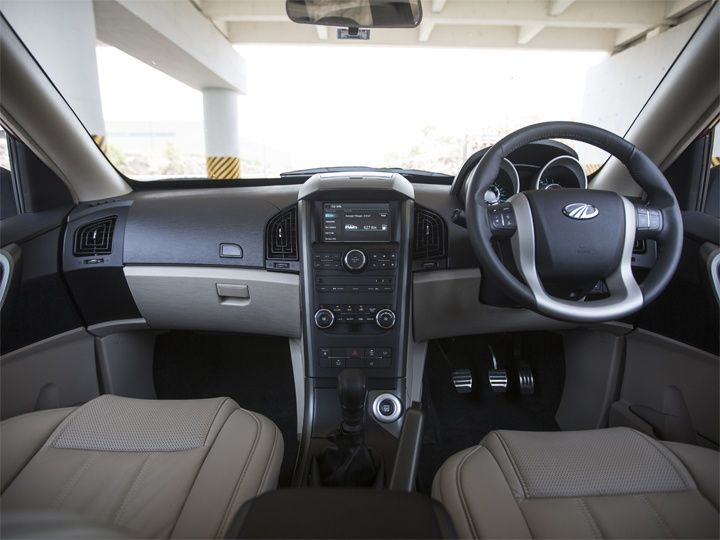 Inside The New Age Mahindra XUV500 There Is A More Premium Looking Black  And Beige Dashboard