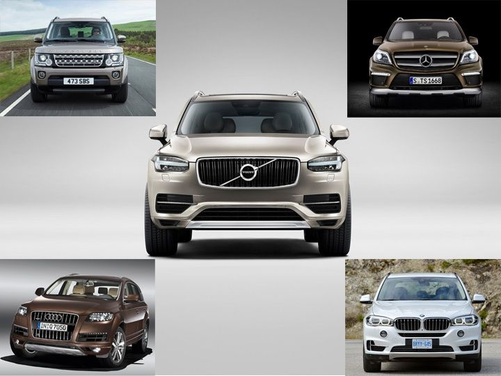 Volvo XC90 Spec comparison front