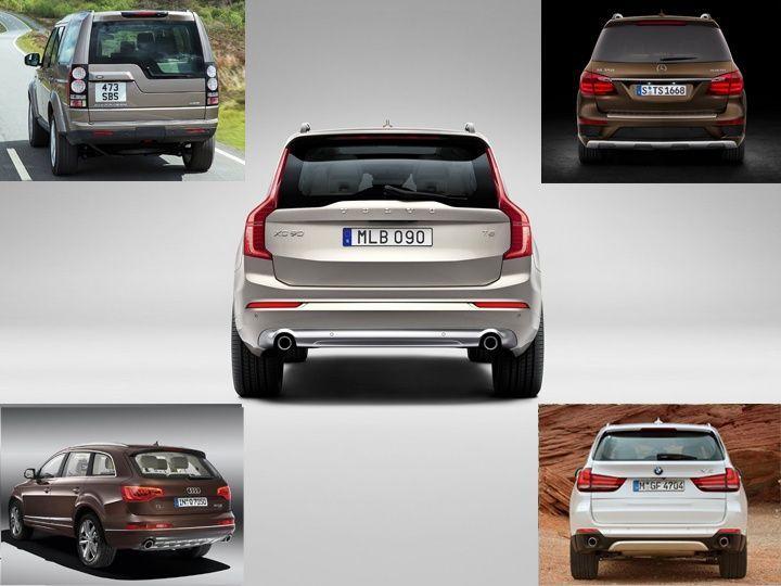 Volvo XC90 vs MercedesBenz GLClass vs BMW X5 vs Audi Q7 vs Land