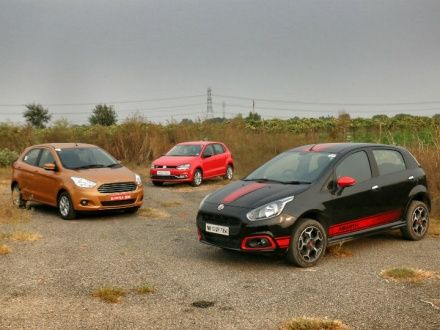 Abarth Punto vs Volkswagen Polo GT TSI vs Ford Figo 1 5 TI