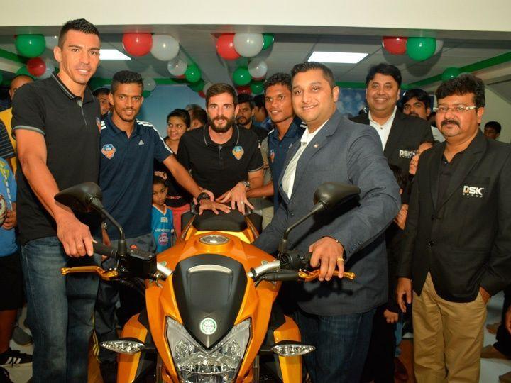 Sirish Kulkarni at the new Benelli Goa dealership