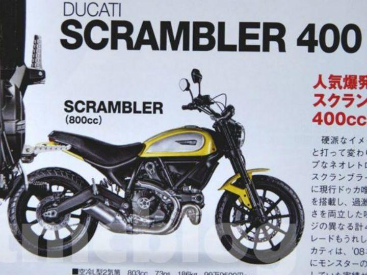ducati may launch scrambler 400 at eicma - zigwheels