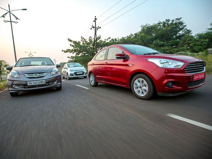 Ford Figo Aspire vs Honda Amaze vs Hyundai Xcent diesel comparison review