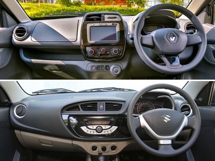 Renault Kwid Vs Maruti Suzuki Alto K10 Dashboard