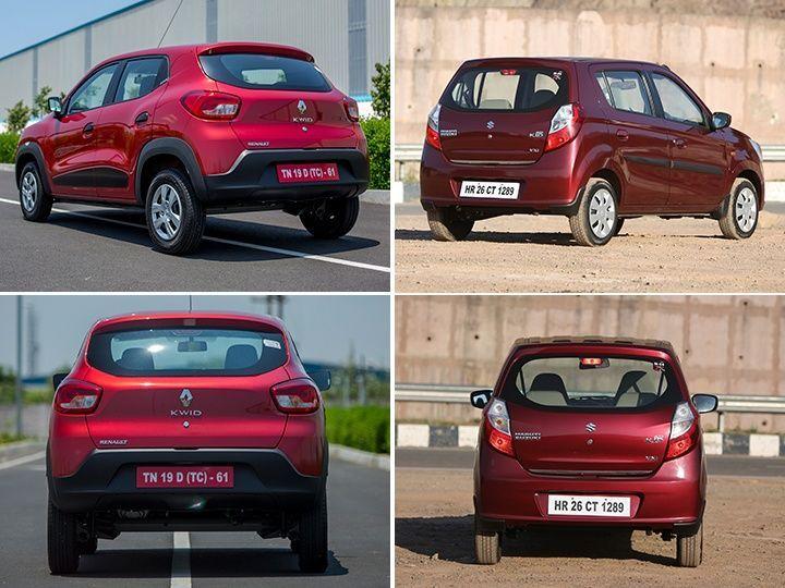Renault Kwid Vs Maruti Suzuki Alto K10 Rear