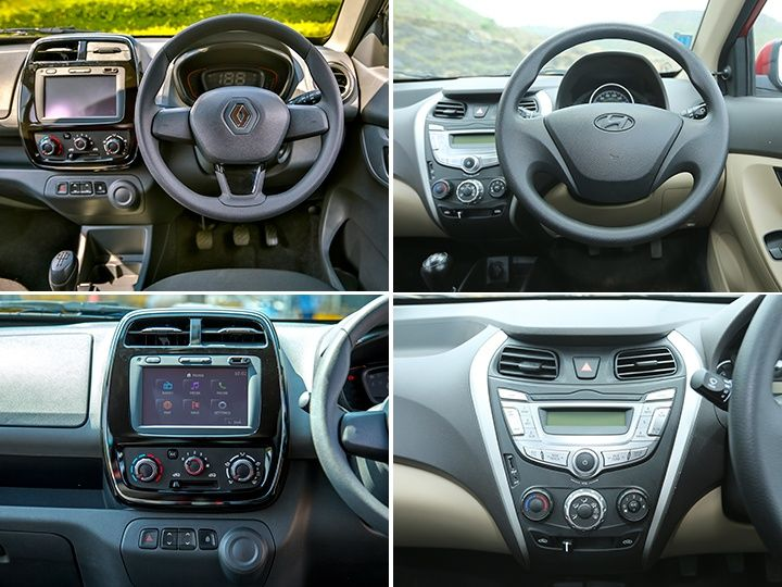 renault kwid vs hyundai eon exterior interior features. Black Bedroom Furniture Sets. Home Design Ideas