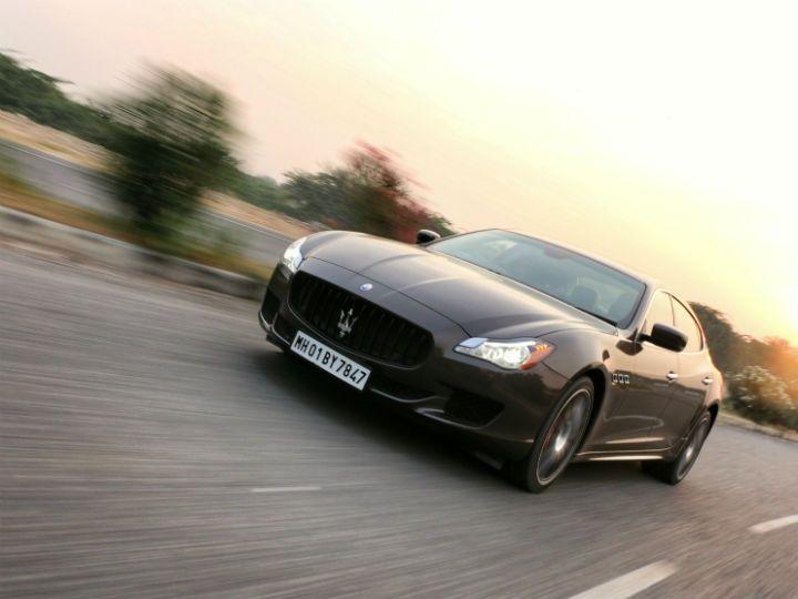Maserati Quattroporte GTS in action