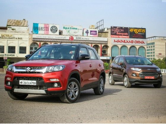 Maruti Suzuki Vitara Brezza Vs Ford EcoSport:  Comparison Review
