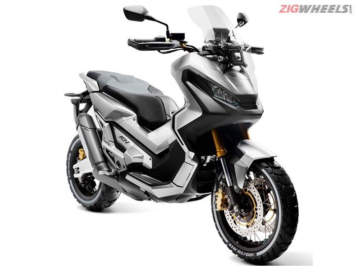 say hello to honda s new 750cc adventure scooter zigwheels. Black Bedroom Furniture Sets. Home Design Ideas