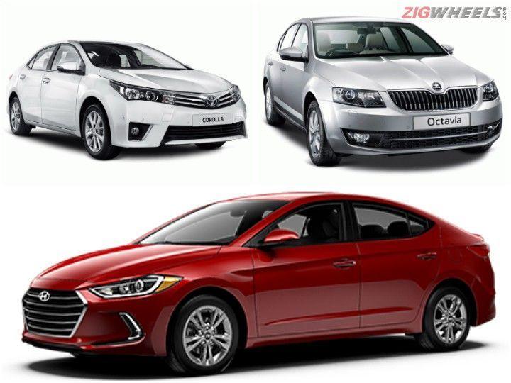 Hyundai Elantra vs Toyota Corolla Altis vs Skoda Octavia