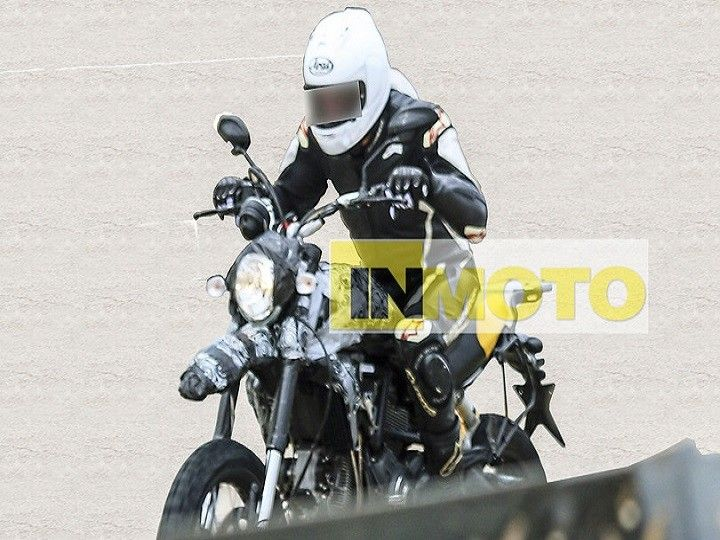 This is the spy photo of the rumoured bigger Scrambler testing somewhere in Europe