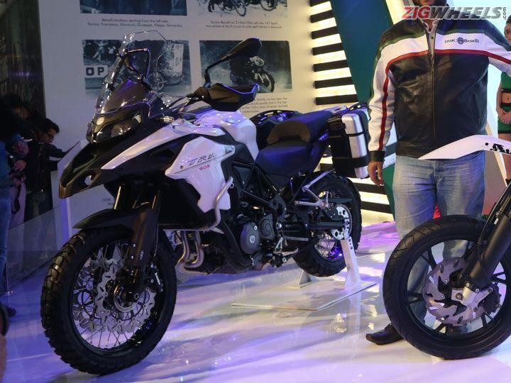 2016 Auto Expo Dsk Benelli Trk 502 Adventure Bike