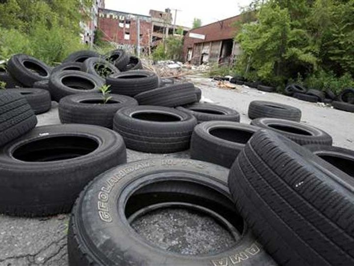 Discarded tyres India