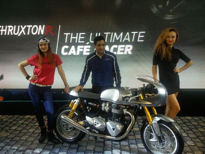 2016 auto expo triumph thruxton r showcased zigwheels. Black Bedroom Furniture Sets. Home Design Ideas