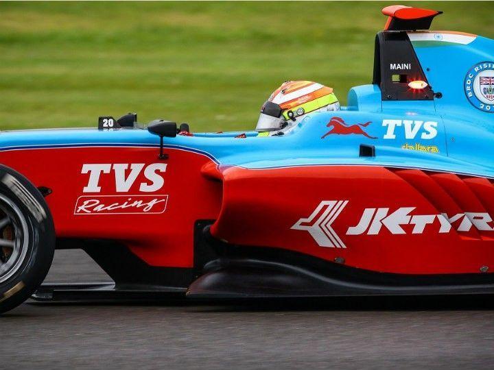 Arjun Maini in his GP3 race car