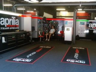 Catalan MotoGP: Watching it from the Aprilia Garage