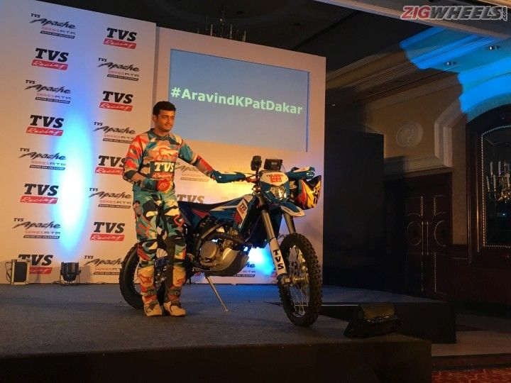 Aravind KP TVS Racing Dakar