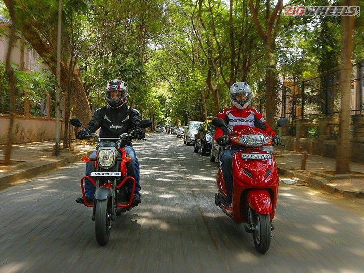 Honda Activa 3G vs Honda Navi: Comparison Review Front