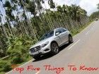 Mercedes-Benz GLC: Top Five Things To Know