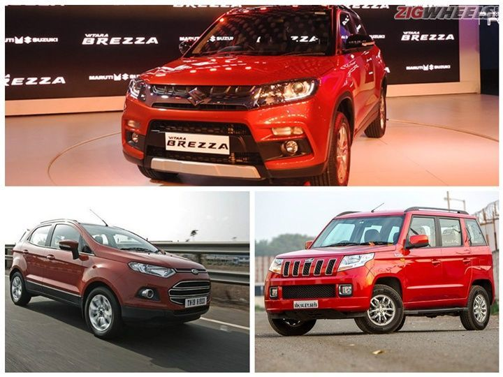 Maruti Suzuki Vitara Brezza vs Mahindra TUV300 vs Ford EcoSport: Spec comparison