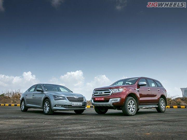 Skoda Superb Vs Ford Endeavour Comparison Review Zigwheels